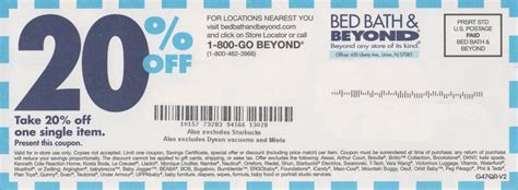 Bed Bath And Beyond 20 Percent Off Coupon Printable