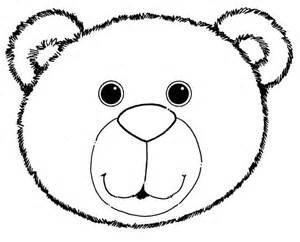 Coloring Sheet of a Bear Head