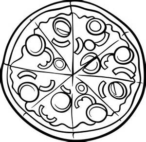 eat eat pizza Colouring Pages (page 2)