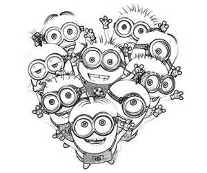 Love The Minion Coloring Page   Printable Coloring Pages