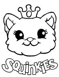 Cute Squinkies Cat Coloring Page | H & M Coloring Pages