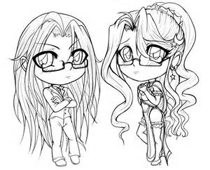 Anime Chibi Coloring Pages Cute chibi coloring pages free