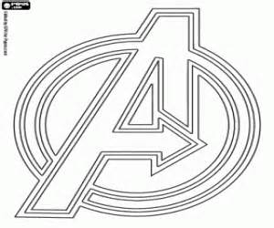 The symbol of the Avengers, the A of Avengers coloring page