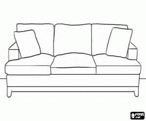Colorear Sofá grande y cómodo con cojines suplementarios