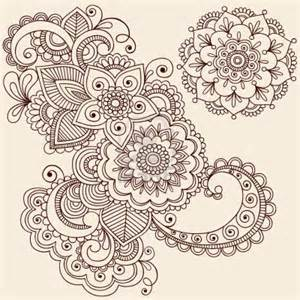 henna flowers Colouring Pages
