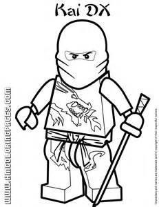 Ninjago Masters Of Spinjitzu Kai DX Coloring Page | H & M Coloring ...