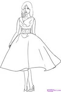 How to Draw a Fashion Model, Step by Step, Fashion, Pop Culture, FREE ...