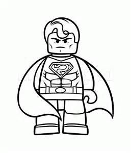 Image to print and color : coloring-lego-movie-superman