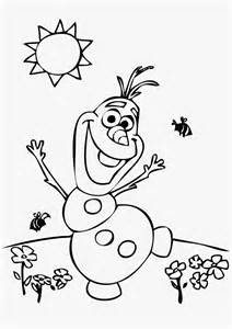 Cute olaf frozen coloring pages easy