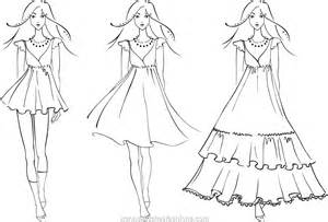 Free coloring pages of how to draw fashion