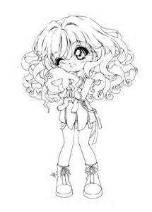 Chibi Coloring Pages To Print - chibi anime girl coloring pages to ...