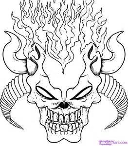 How to Draw Demon Skulls, Step by Step, Skulls, Pop Culture, FREE ...