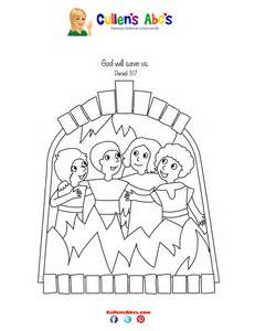 shadrach meshach abednego coloring page