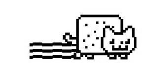 Nyan Cat Black And White Free coloring pages of \x3cb\x3enyan nyan cat ...