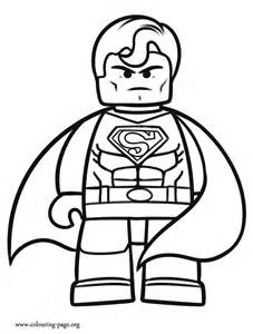 The Lego Movie - Superman coloring page