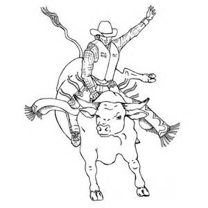 bucking bull colouring pages (page 2)