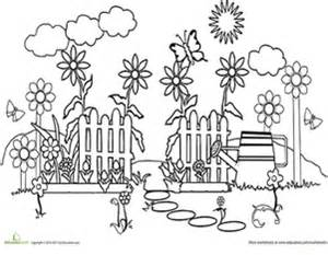 Color the Garden Path | Coloring Page | Education.com