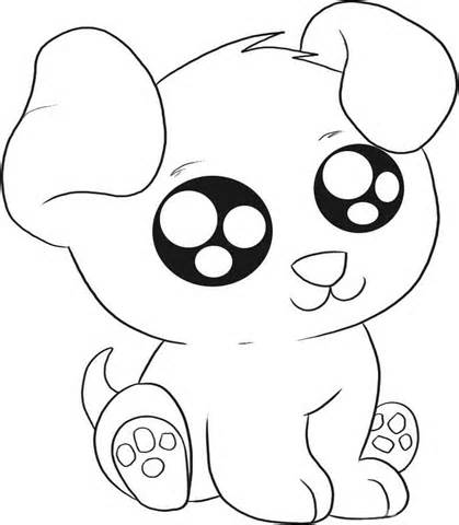 Cute Puppy Coloring Sheets | Coloring