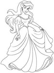 coloring pages ariel a dress - Coloring Pages Ariel A Dress