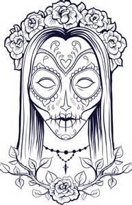 Sugar Skull Coloring Page 9 - KidsPressMagazine.com