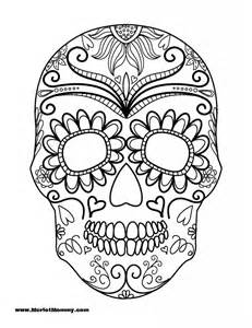 Trends For > Sugar Skull Blank Coloring Pages