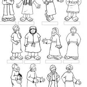 ... Christ with 12 Disciples Last Supper Coloring Page | Coloring Sun