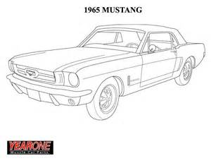 1964 mustang colouring pages (page 2)
