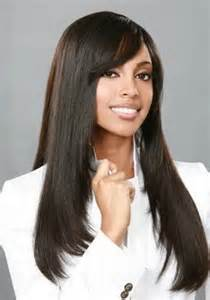 long weave hairstyles with side bangs