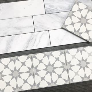 7SF Carrara Subway Tile Basketweave Hexagon