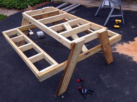 Build Easy Picnic Table Plans How To Build The