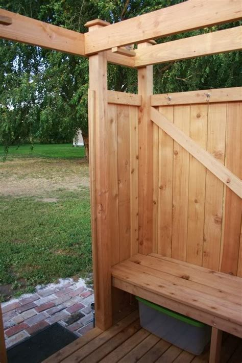 Build Your Own Outdoor Shower Enclosure Plans For Desk