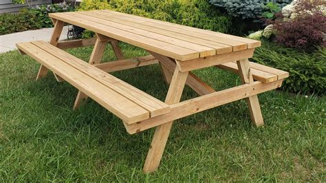 Building Outdoor Table Plans 8 Foot Wood Picnic Tables