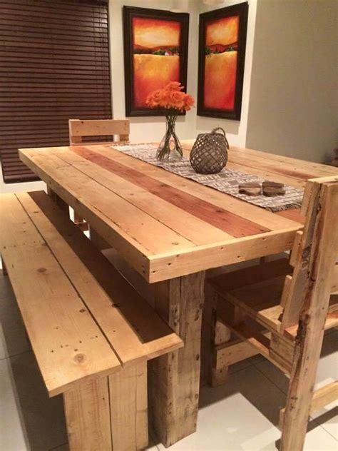 Building Plans For A Pallet Desk Dining Table Bench