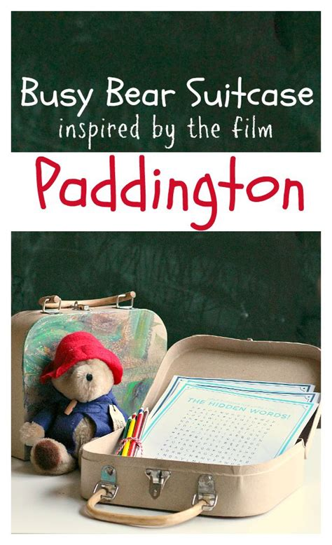 Busy Bear Suitcase inspired by Paddington No Time For