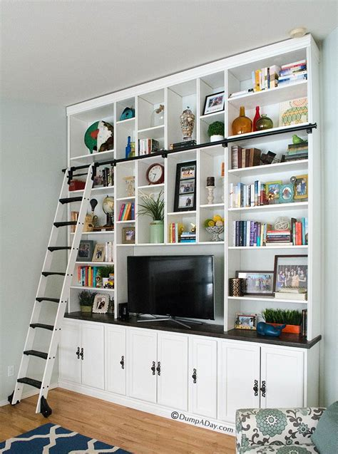 Diy Bookcase Plans Ceiling Large Wall Bookcase Plans