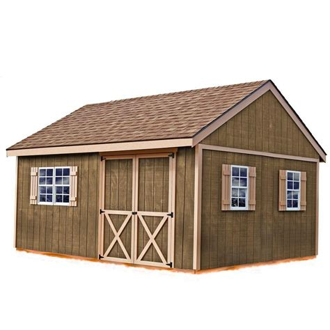 Easton 12 Ft X 16 Ft Wood Storage Shed Kit Barn Style