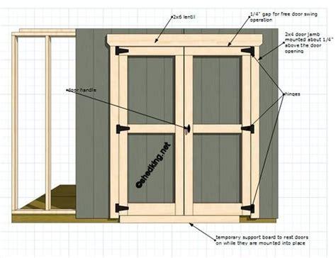 How Build Shed Double Door Plans For Gun Cabinet