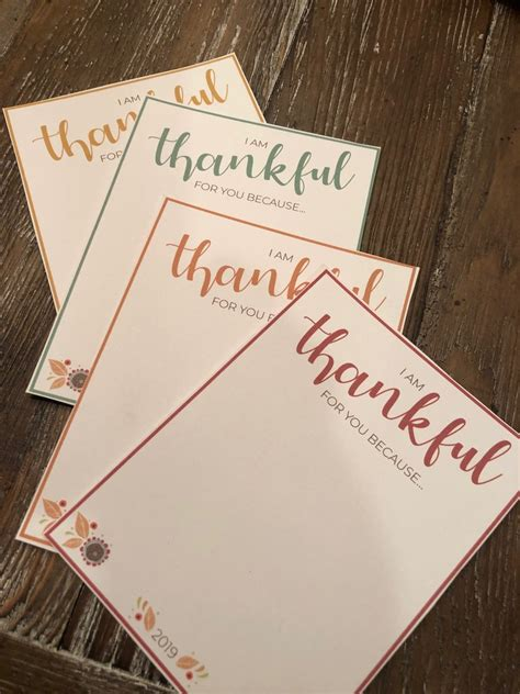 I Am Thankful For Free Thanksgiving Printable A Family