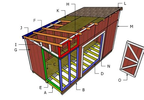 Large 8 X 16 Foot Lean To Roof Shed Plans Free Large