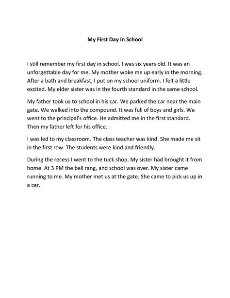 narrative essay on my first day at high school essay topicsnarrative essay about my first day - Narrative Essay Examples For High School
