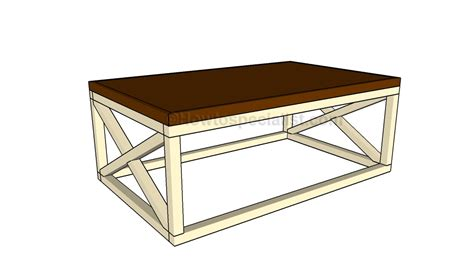 Rustic X Coffee Table Plans How To Build A Deck High