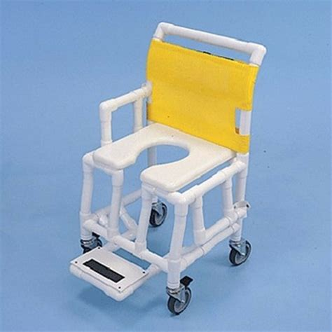 Shower and Commode Chair Soft Seat Footrest Drop Arm