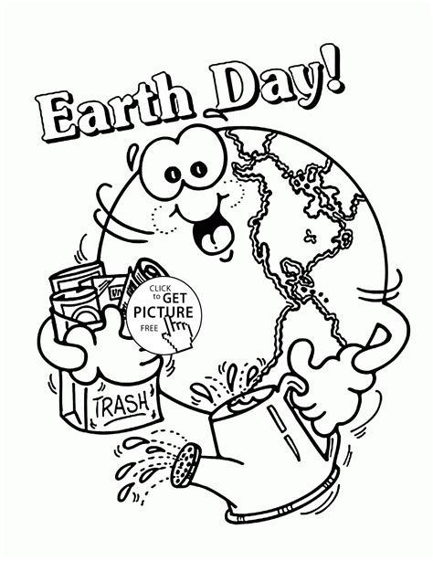 free Earth Day Coloring Pages In All You Do