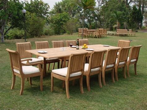10 12 Seater Large Outdoor Dining Table Sets