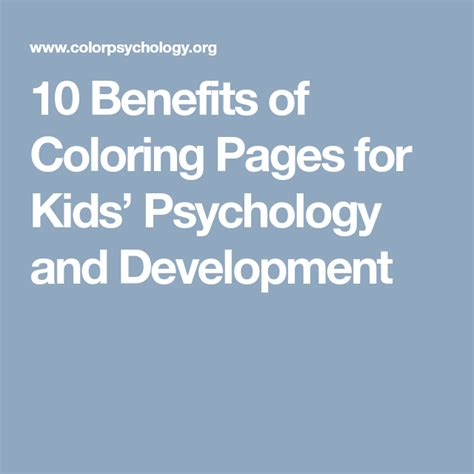 10 Benefits of Coloring Pages for Kids Psychology and