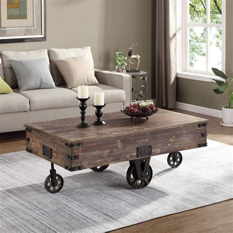 10 Coffee Tables on Wheels to DIY Homedit