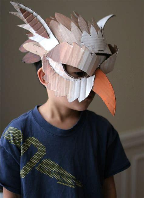 10 DIY Cardboard Paper Masks for Halloween Handmade