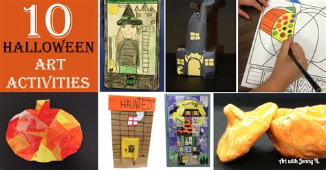 10 Halloween Art Lessons for Kids Art with Jenny K