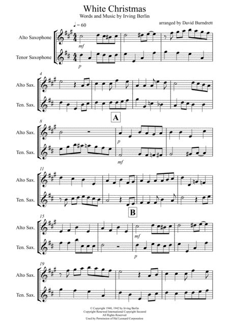 10 Christmas Carols For Alto Alto Tenor Saxophone And Piano  music sheet