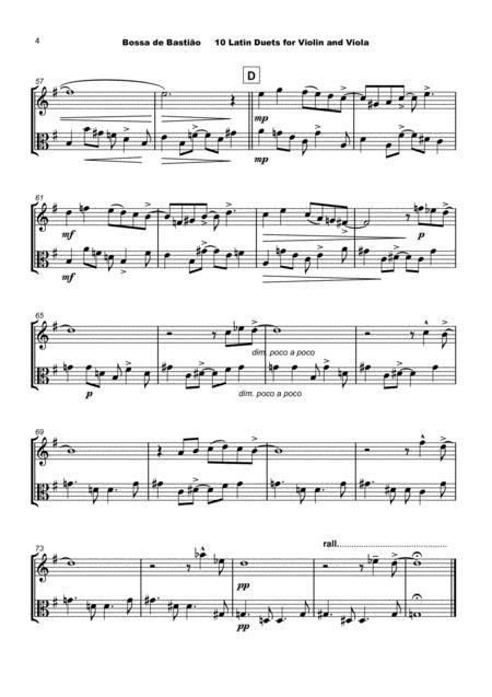 10 Latin Duets For Viola  music sheet